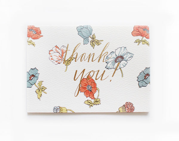 floral thank you card - www.mignonshop.com - 2