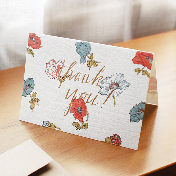 floral thank you card - www.mignonshop.com - 4