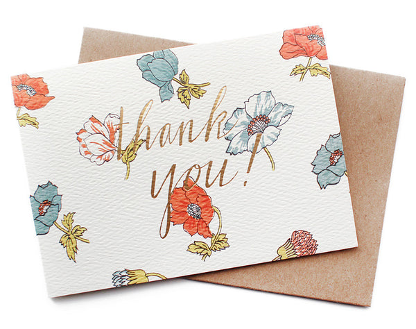 floral thank you card - www.mignonshop.com - 1