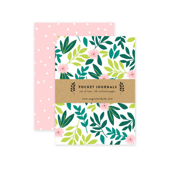 leaves and ferns pocket journal set - www.mignonshop.com - 2