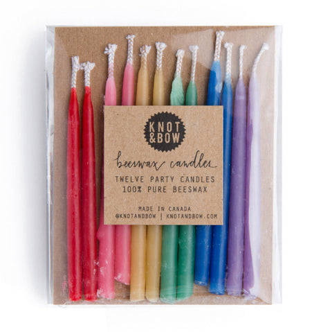 rainbow beeswax candles - www.mignonshop.com