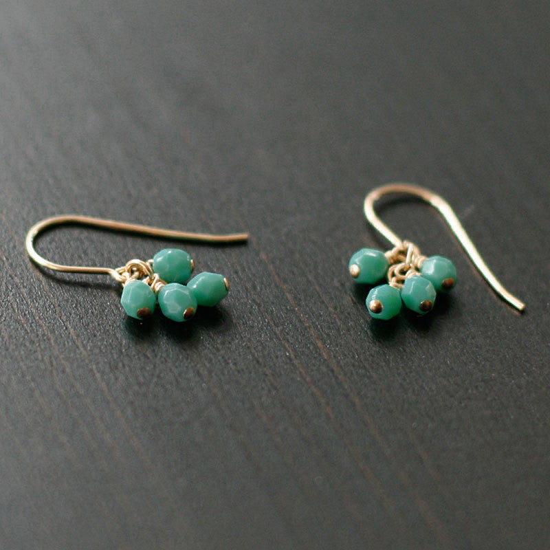 lucky in turquoise earrings - www.mignonshop.com - 3