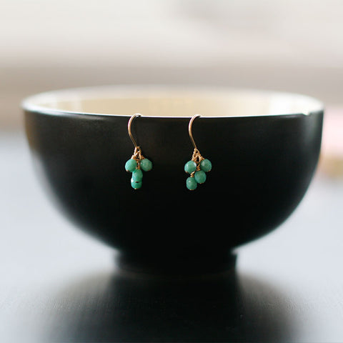 lucky in turquoise earrings - www.mignonshop.com - 1