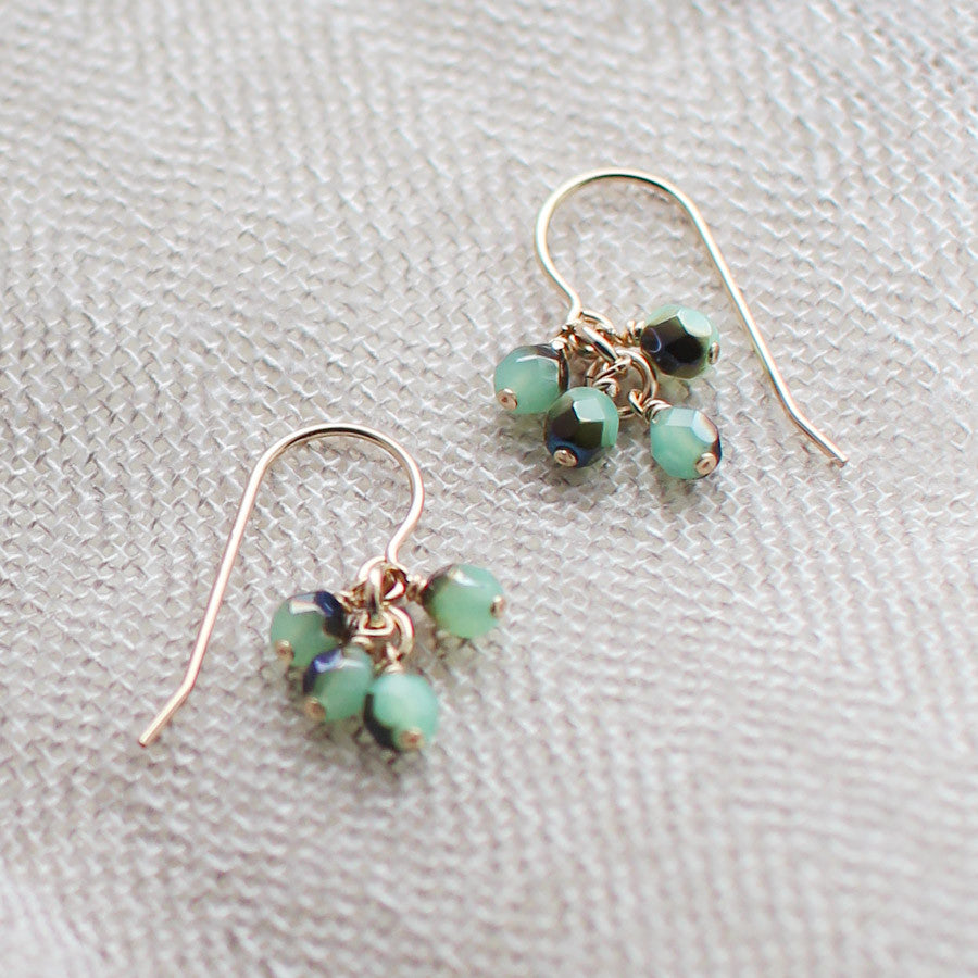lucky in blue and green earrings