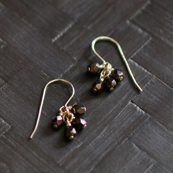 lucky in bronze earrings - www.mignonshop.com - 1