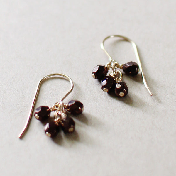 lucky in bronze earrings - www.mignonshop.com - 2