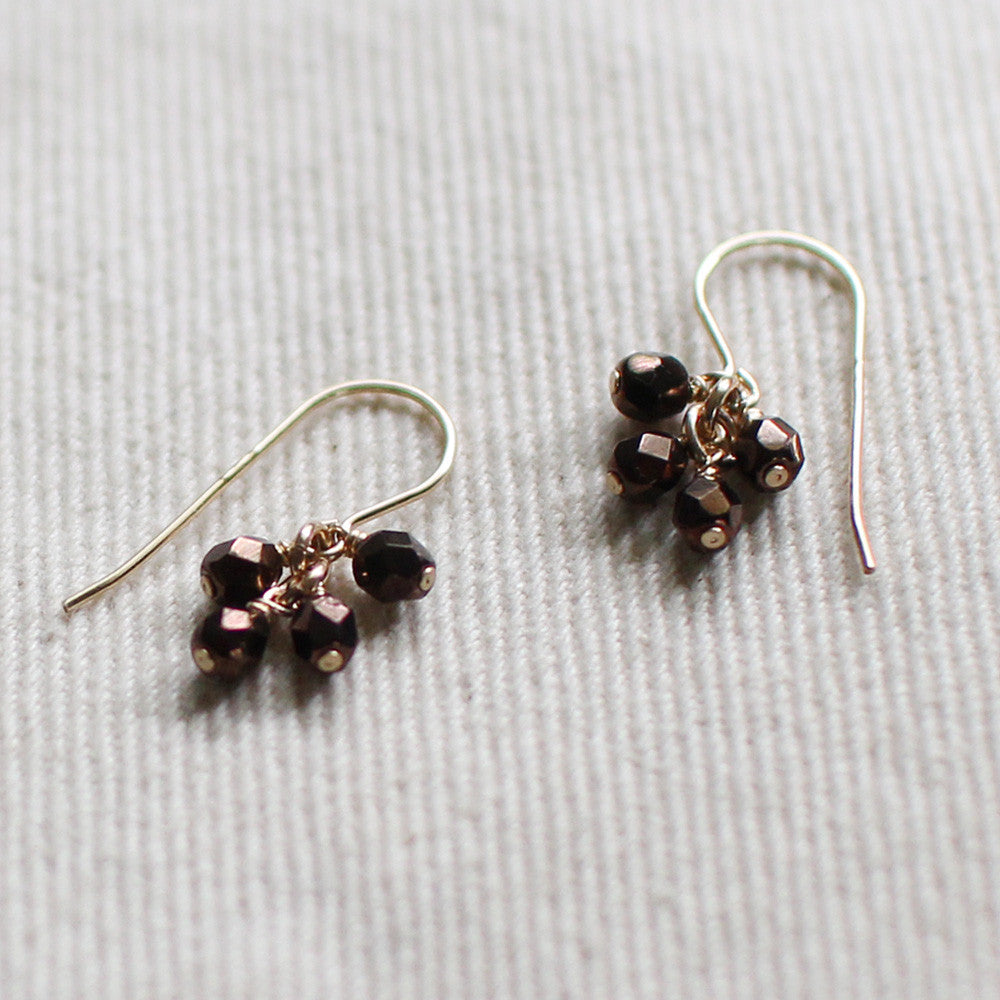 lucky in bronze earrings - www.mignonshop.com - 3