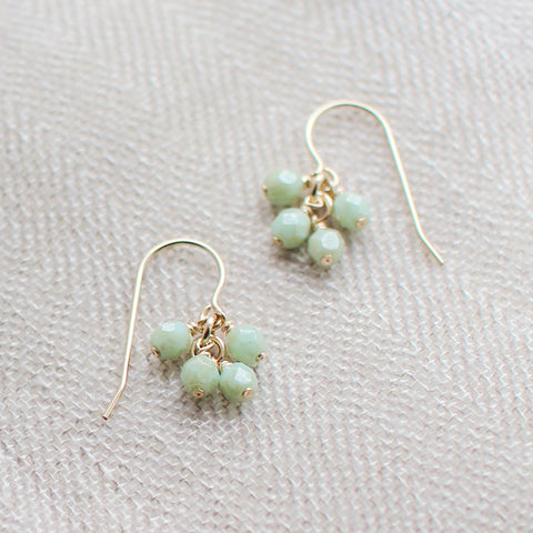 lucky in celadon green earrings