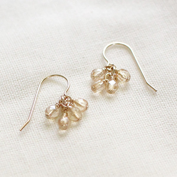 lucky in champagne earrings