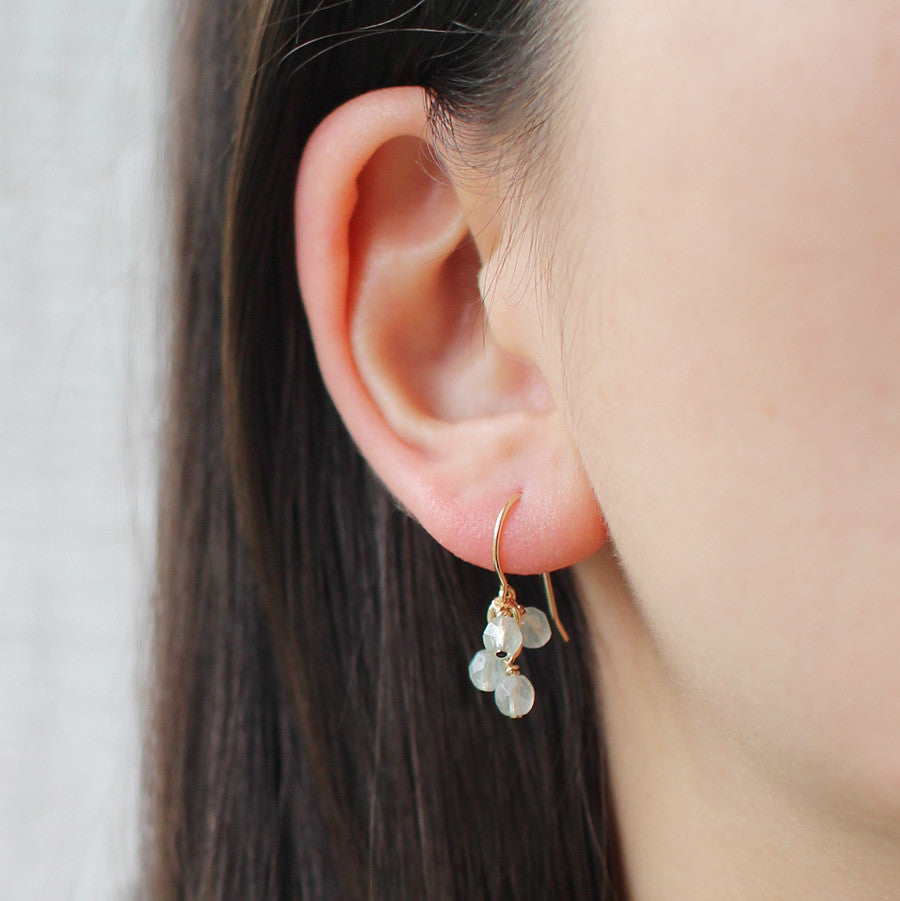 lucky in frost earrings