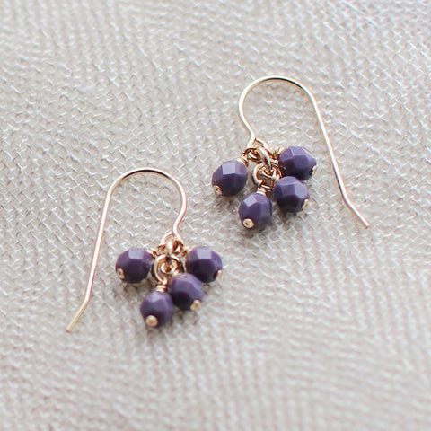 lucky in plum earrings