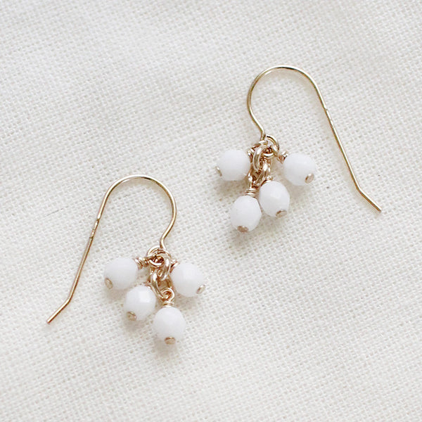 lucky in white earrings - www.mignonshop.com - 1