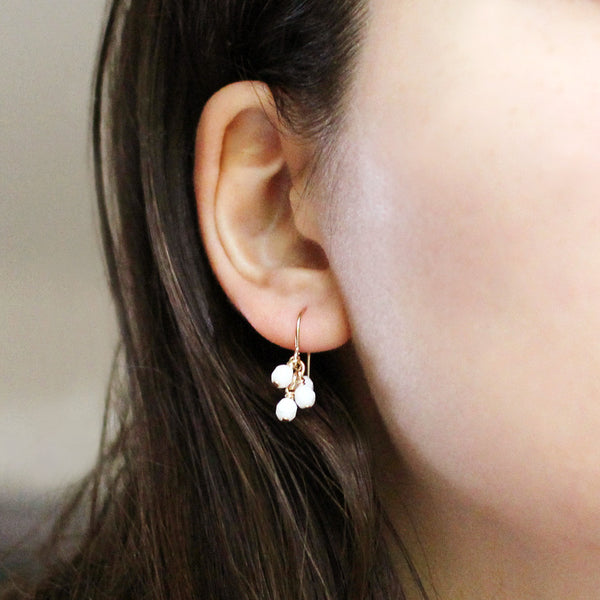 lucky in white earrings - www.mignonshop.com - 3