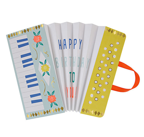 accordian birthday card - www.mignonshop.com