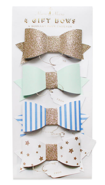 blue/green bows paper gift bows - www.mignonshop.com - 2