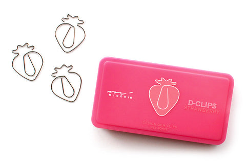strawberry paper clips - www.mignonshop.com