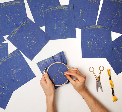 constellation embroidery kit - www.mignonshop.com - 1