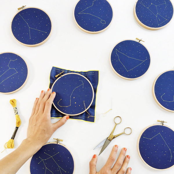 constellation embroidery kit - www.mignonshop.com - 6