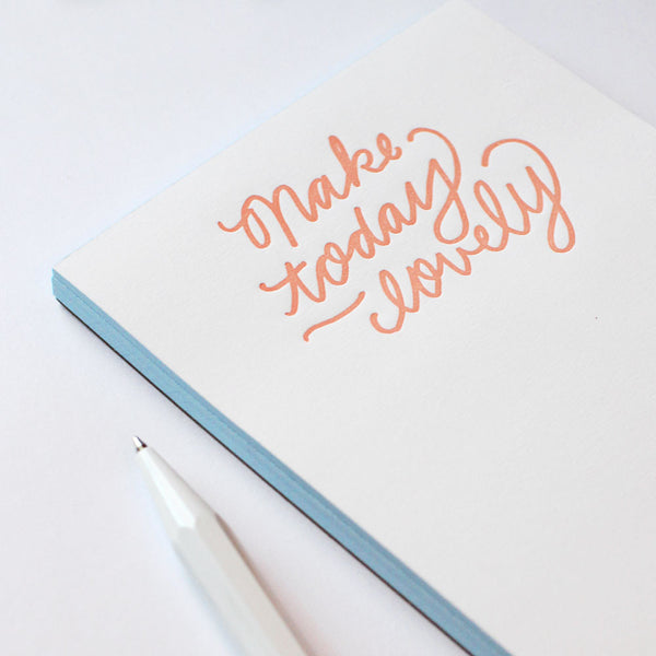 make today lovely jotter - www.mignonshop.com - 2