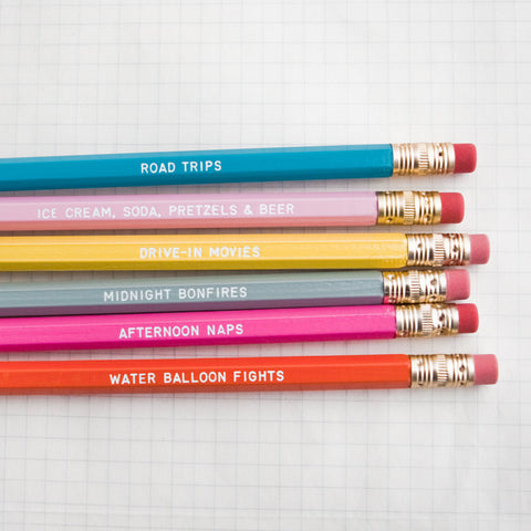 days of summer pencil set - www.mignonshop.com - 1