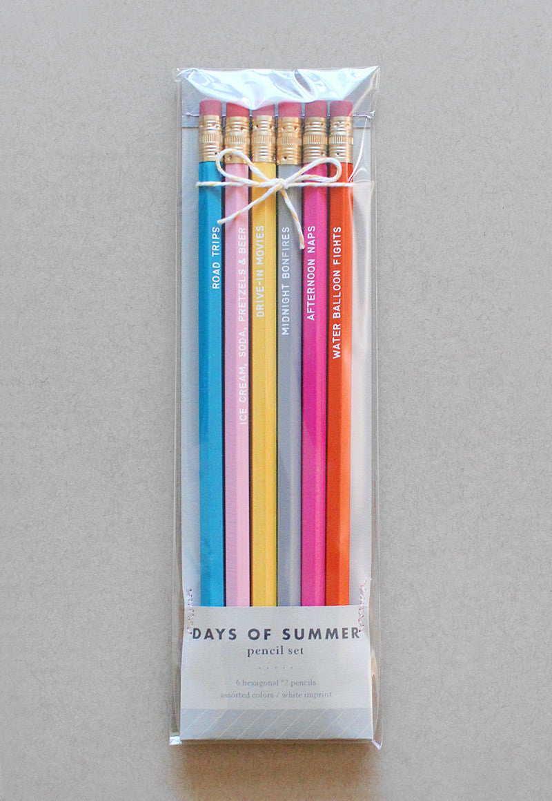 days of summer pencil set - www.mignonshop.com - 2