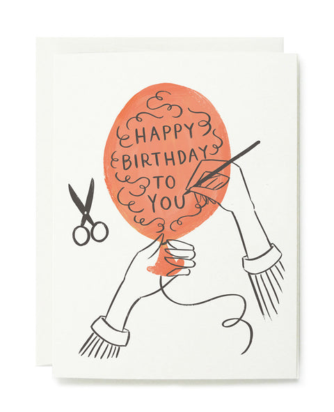 happy birthday balloon card - www.mignonshop.com