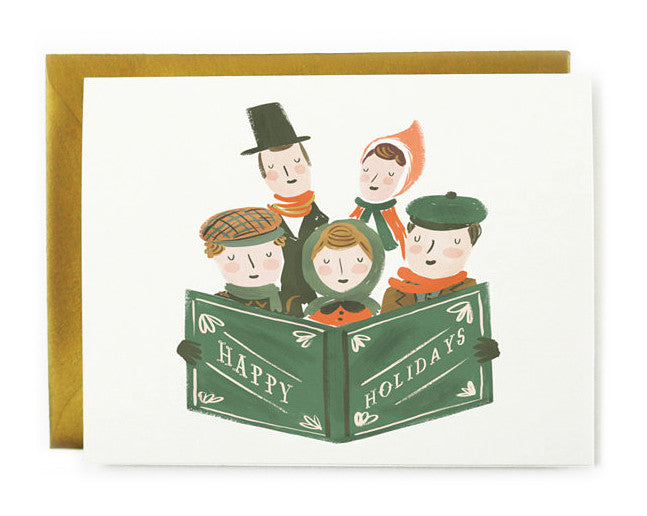 holiday carolers card - www.mignonshop.com