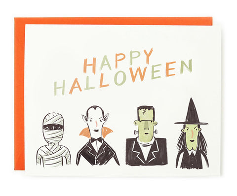 halloween monsters card - www.mignonshop.com
