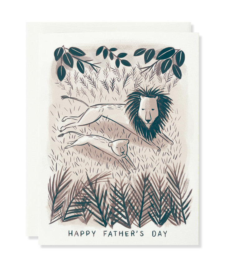 lion and cub father's day card - www.mignonshop.com