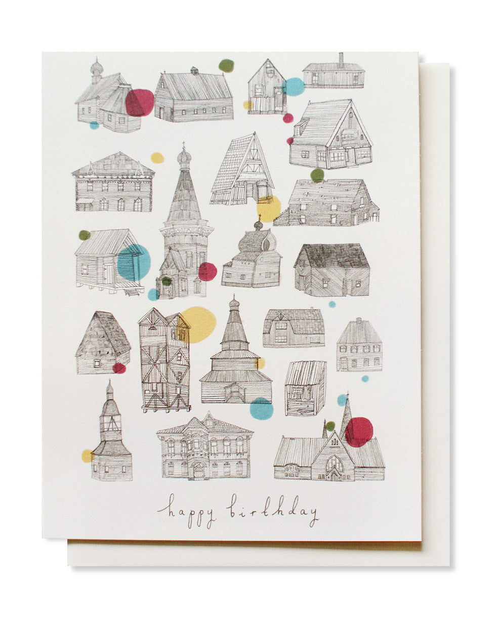 birthday houses card - www.mignonshop.com