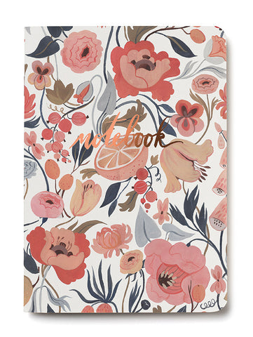 citrus peach notebook - www.mignonshop.com