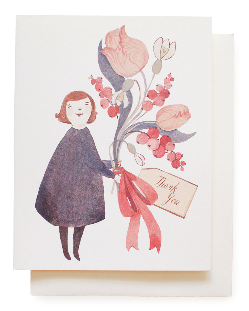 dress & tulips thank you card - www.mignonshop.com - 1