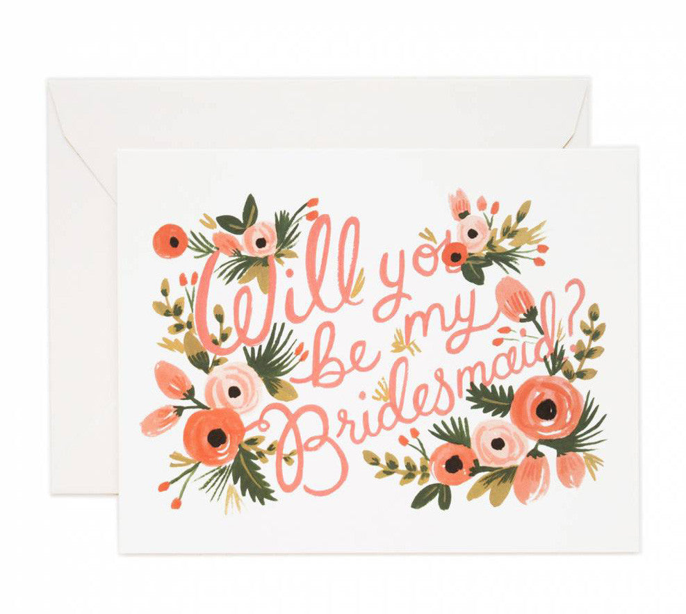 will you be my bridesmaid card - www.mignonshop.com