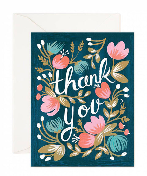midnight garden thank you card - www.mignonshop.com
