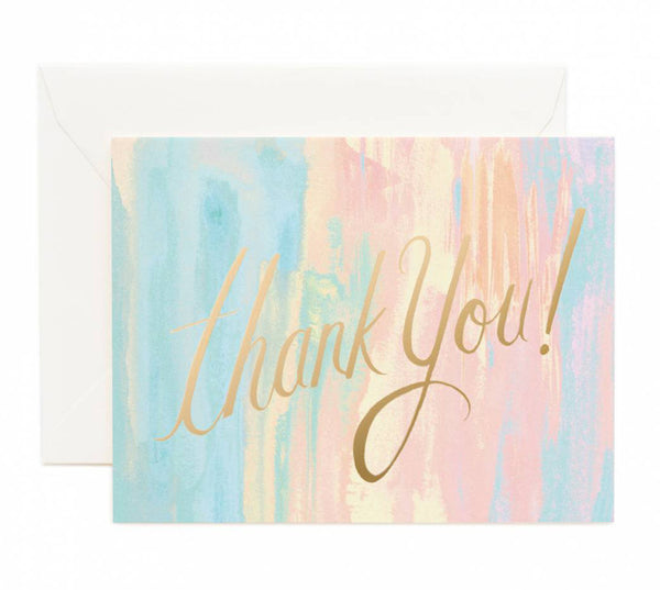 watercolor thank you card - www.mignonshop.com - 1