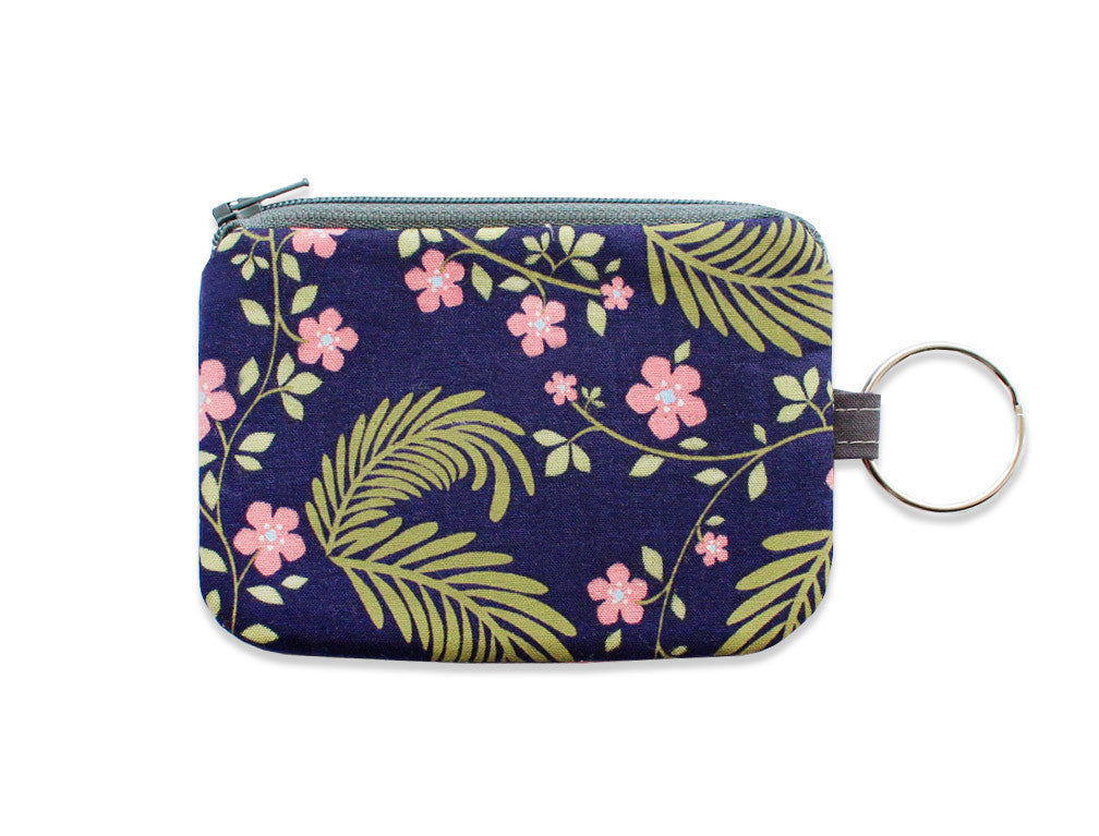forest flower key chain pouch - www.mignonshop.com - 1