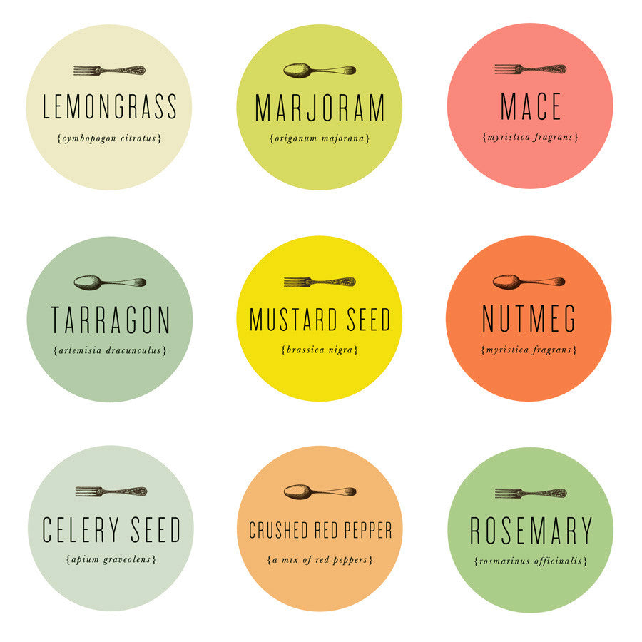 spice labels
