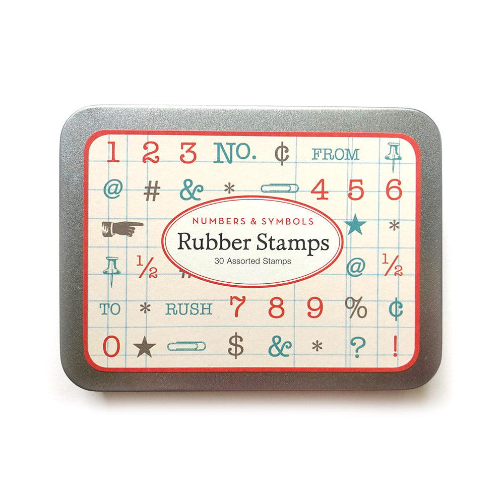 numbers & symbols rubber stamps