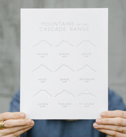 mountains of the cascade range print - www.mignonshop.com - 1