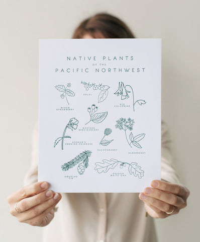 native plants of the pacific northwest print - www.mignonshop.com - 1