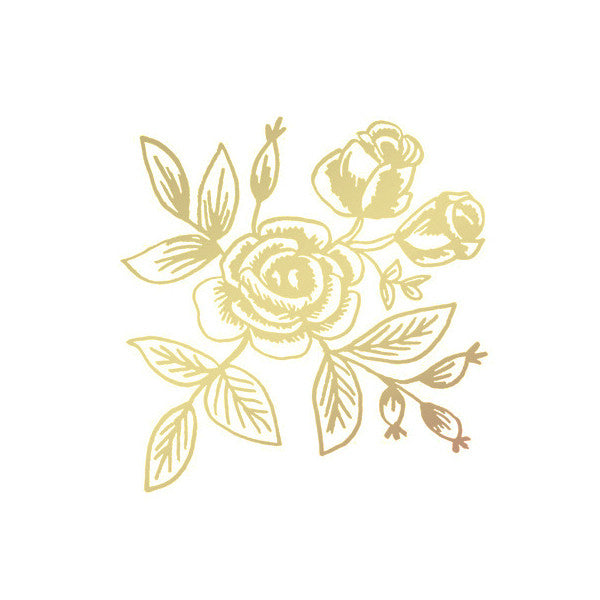 gold floral temporary tattoo - www.mignonshop.com - 2