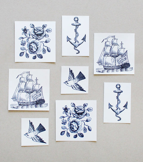 nautical temporary tattoos - www.mignonshop.com - 1
