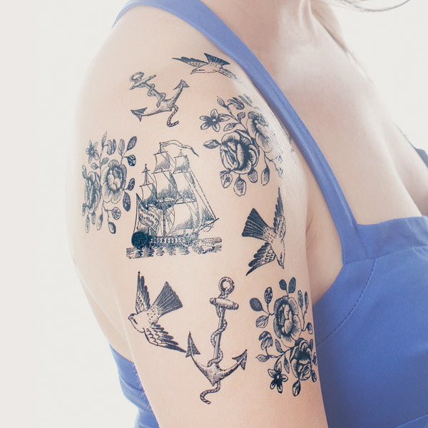nautical temporary tattoos - www.mignonshop.com - 3