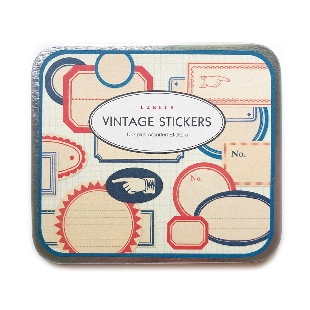 vintage-style stickers