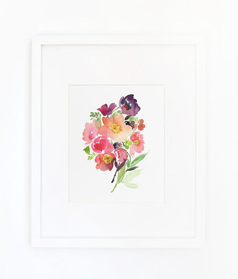 bouquet of poppies art print - www.mignonshop.com - 1