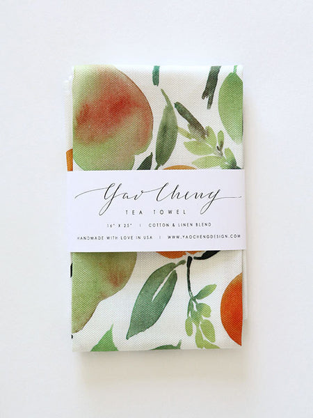 citrus watercolor tea towel - www.mignonshop.com - 1