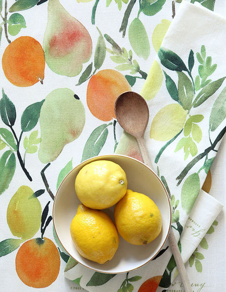 citrus watercolor tea towel - www.mignonshop.com - 3