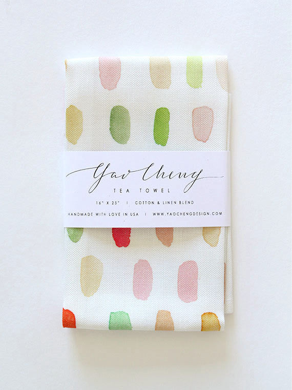 dot watercolor tea towel - www.mignonshop.com - 1