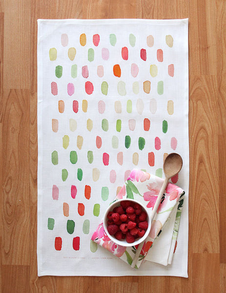 dot watercolor tea towel - www.mignonshop.com - 2