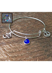 Recycled Antique Glass Peace Bangle!